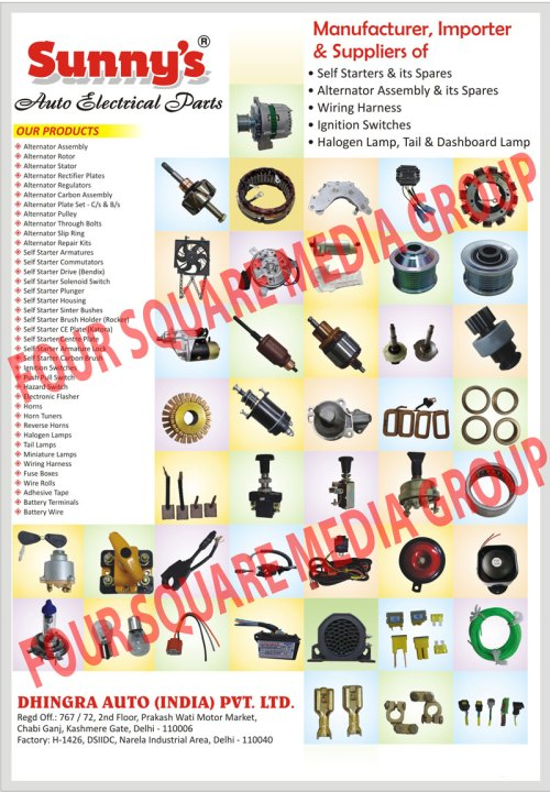 small resolution of self starters alternator assembly wiring harness ignition switches halogen lamp tail