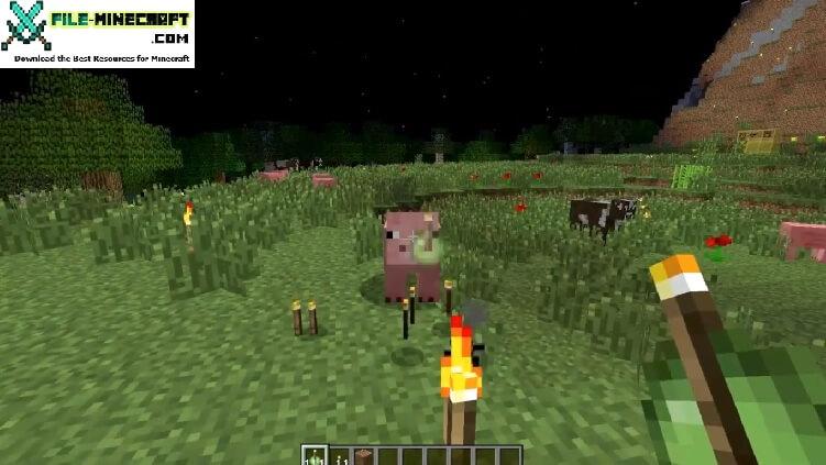Throwable Torch Mod 1.11.2