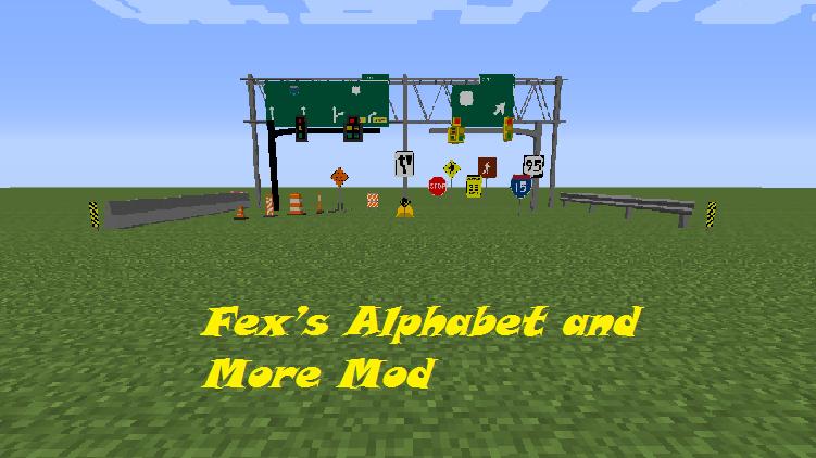 Fex's Alphabet and More Mod
