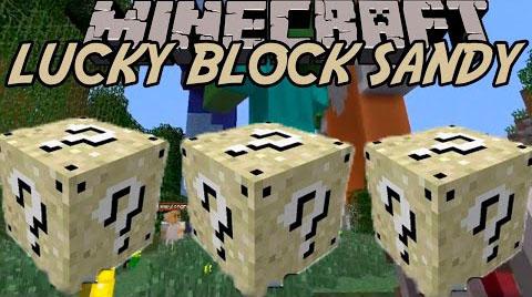 Sandy Lucky Block Mod 1.16.3 1.15.2