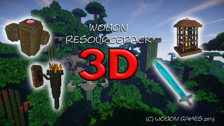 Wolion 3D Resource Pack 1.7.10