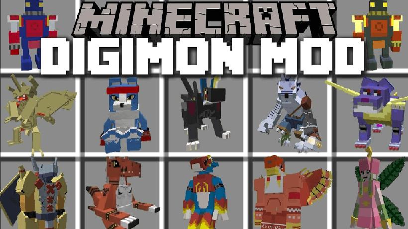 Digimobs (Digimon) Mod  1.11.2 1.10.2