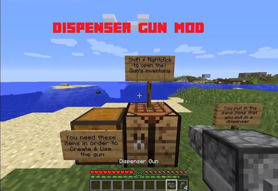 Dispenser Gun Mod 1.10.2