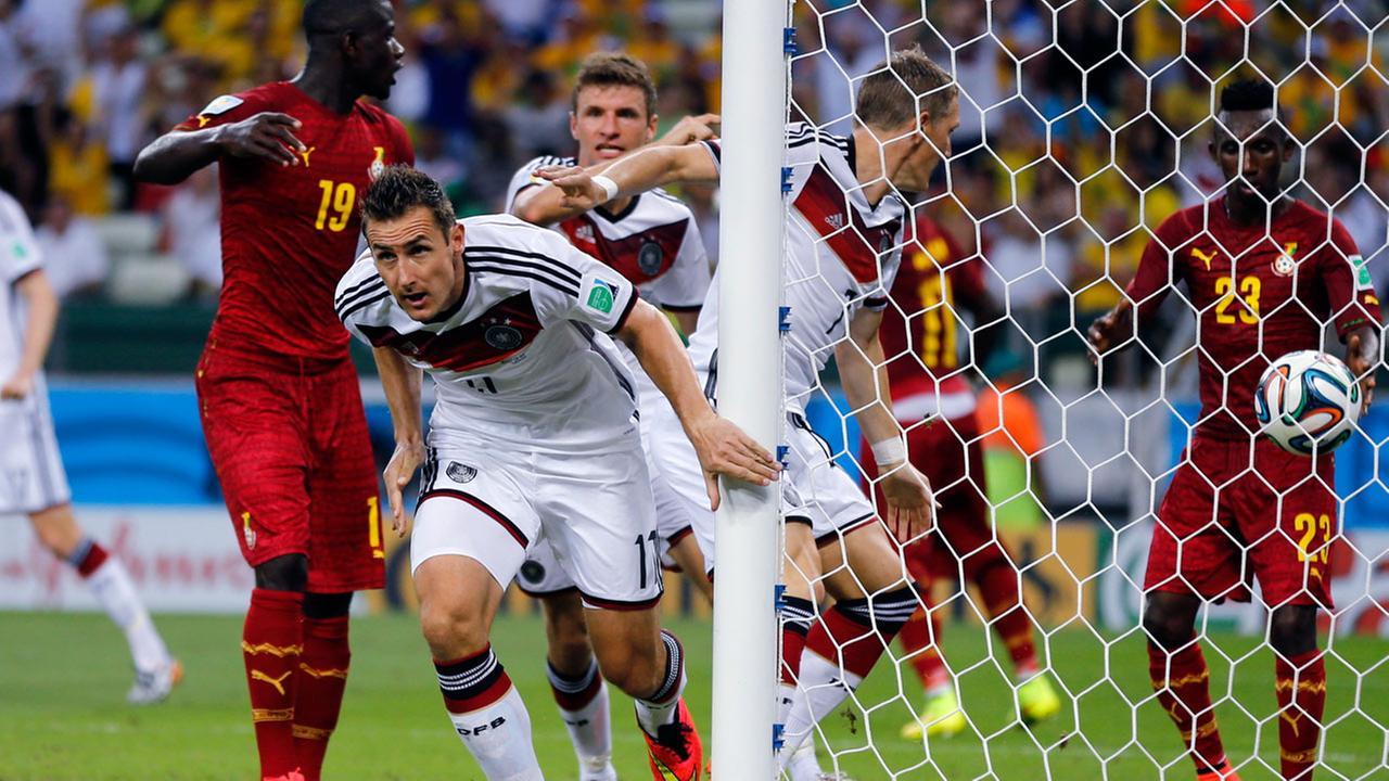 Image result for klose goal vs ghana 2014