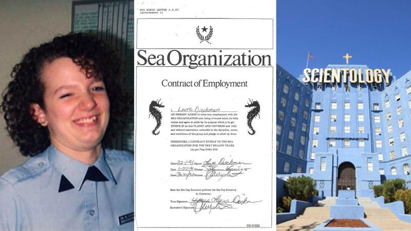 A Church of Scientology employment contract, which commits the signer to the SeaOrganization for a billion years.