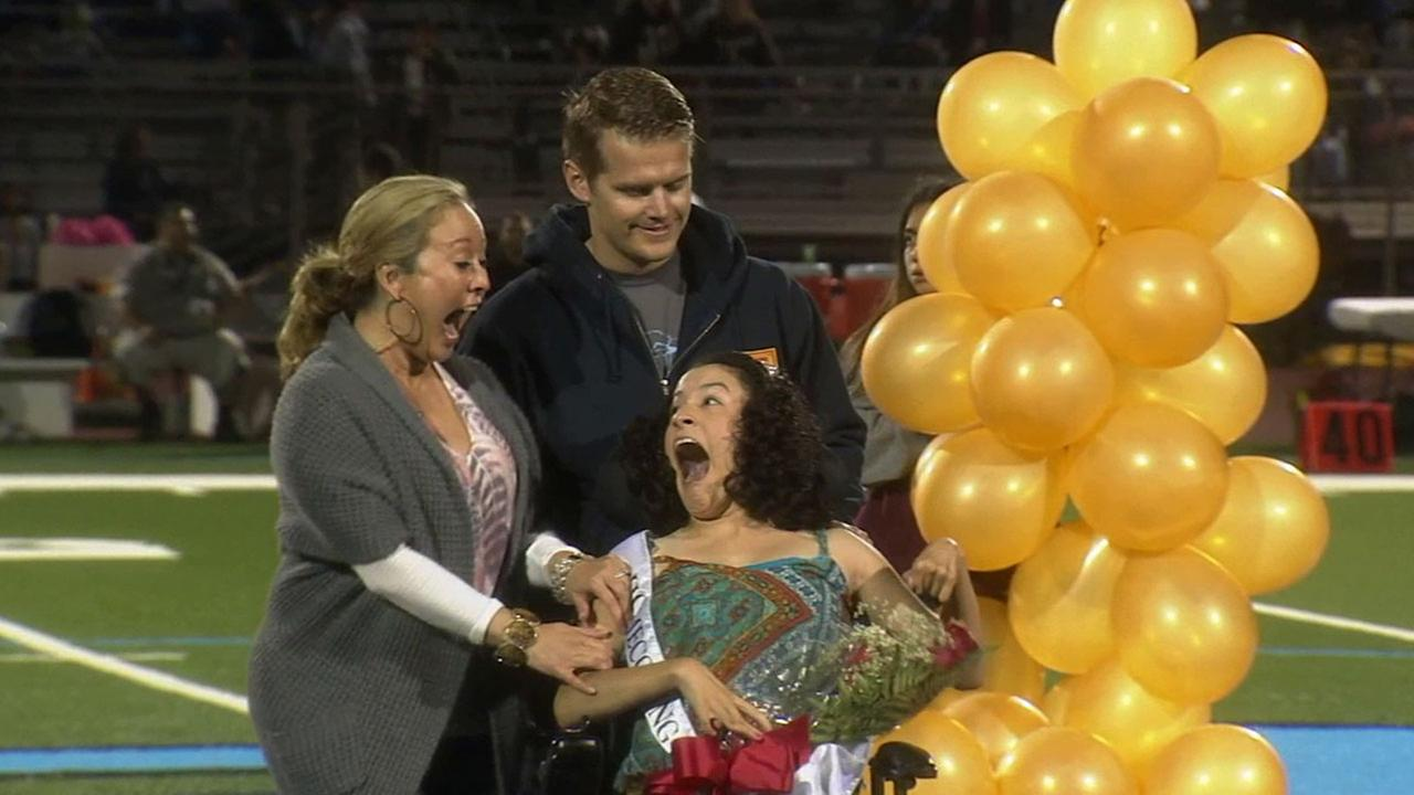 Ontario High School crowns special needs student