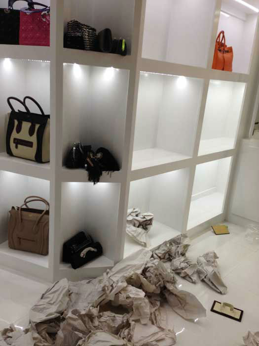A look inside the 3,000 square-feet designer closet after it was ransacked <span class=meta>ABC Photo/ KTRK</span>