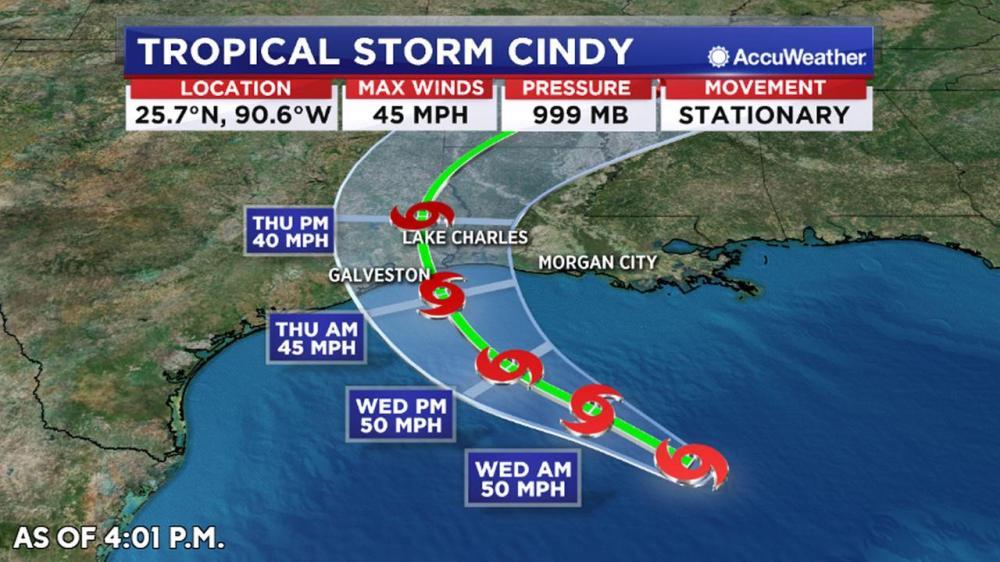 medium resolution of nola com tropical storm cindy threatens gulf coast
