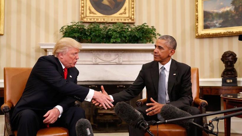 Image result for obama trump handshake
