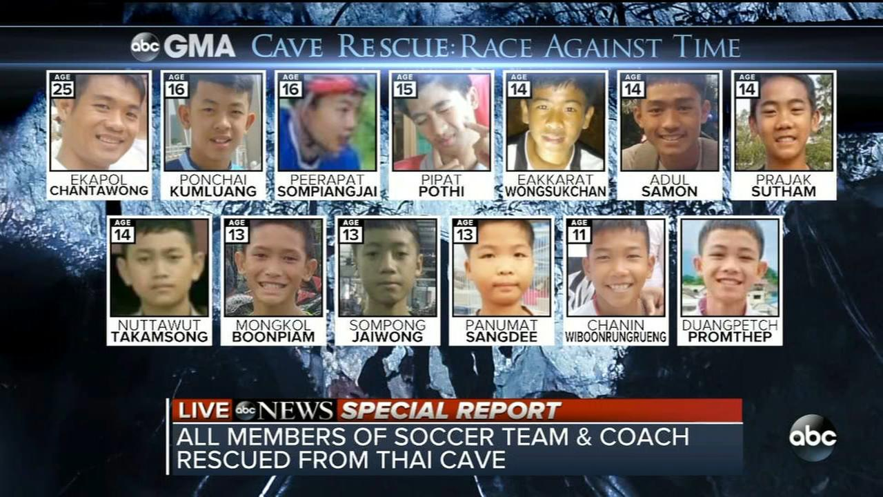 Image result for all boys and coach rescued in thailand