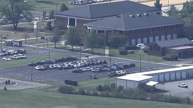Law enforcement on the scene at Wayne Community College in Goldsboro. <span class=meta></span>