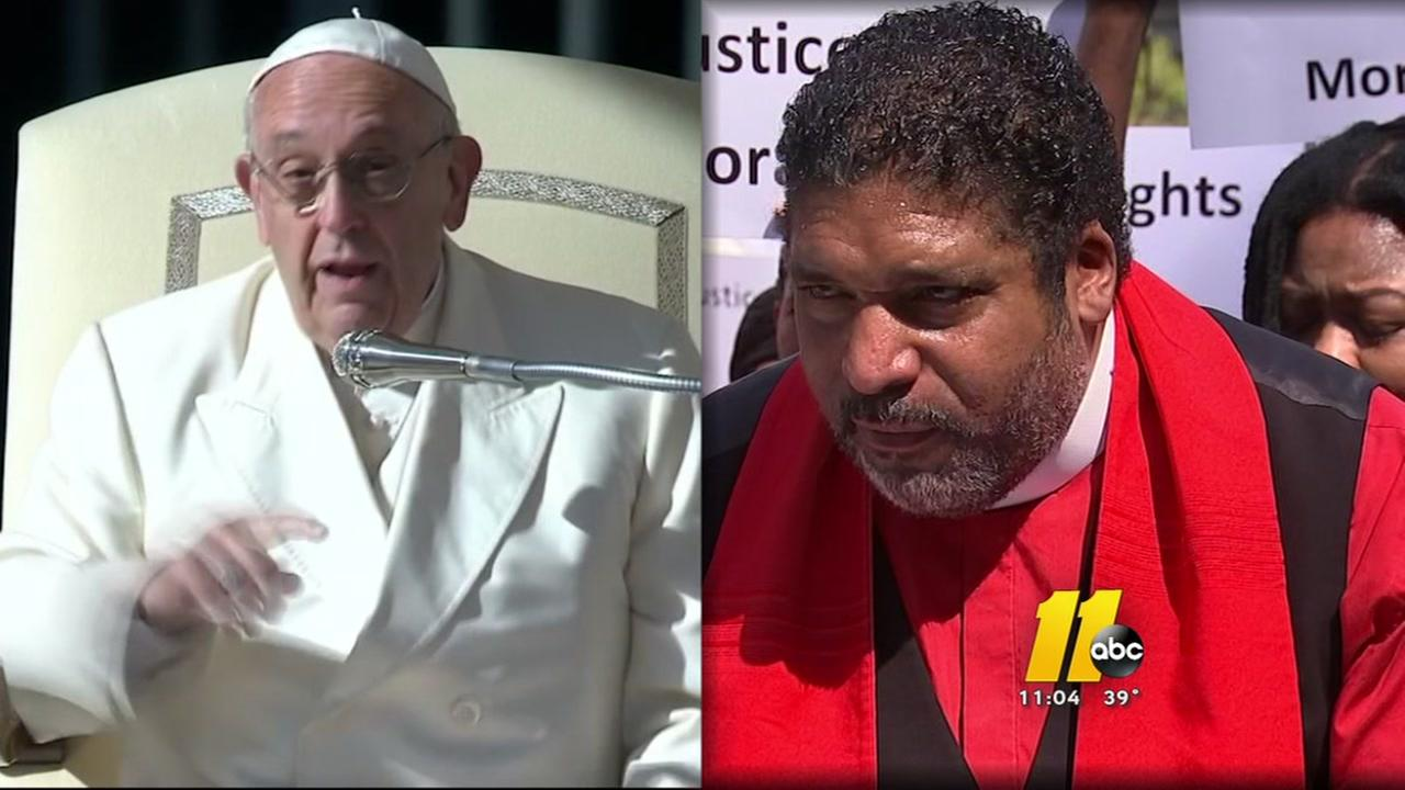 Image result for photos of rev barber and pope francis