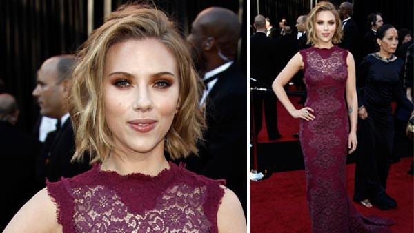 Actress Scarlett Johansson arrives before the 83rd Academy Awards on Sunday, Feb. 27, 2011, in the Hollywood section of Los Angeles. - Provided courtesy of AP / AP Photo/Matt Sayles