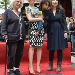 Concrete Kitchen Table Glass Tile Backsplash Scarlett Johansson Receives Star On The Hollywood Walk Of ...