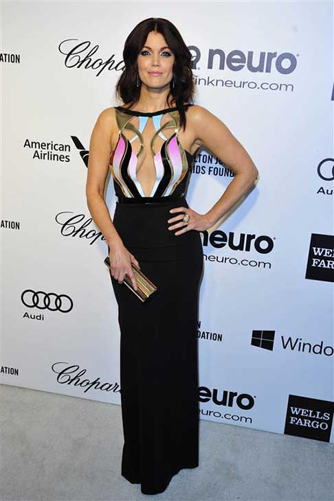 Bellamy Young (Mellie Grant on 'Scandal') appears at the 22nd annual Elton John AIDS Foundation's Oscar viewing party in Los Angeles, California on March 2, 2014.