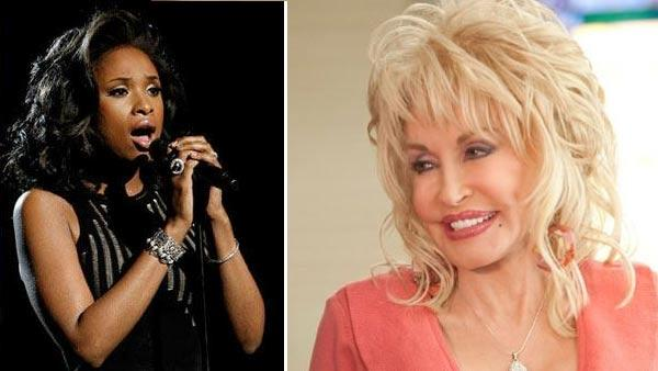 Dolly Parton  appears in a scene from the 2012 film Joyful Noise. / Jennifer Hudson performs I Will Always Love You during the In Memoriam portion of the 54th annual Grammy Awards on Sunday, Feb. 12, 2012 in Los Angeles. - Provided courtesy of Alcon Film Fund / AP / Matt Syles