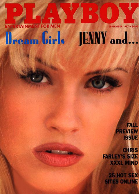 Jenny McCarthy appears on the cover of Playboy magazine's September 1997 issue.
