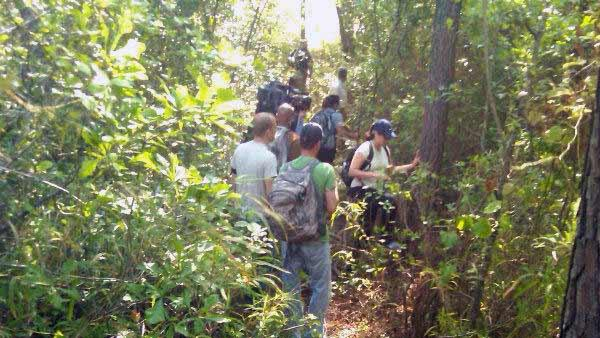 Volunteers helping search Thursday for evidence connected to the disappearance of Kelli Bordeaux