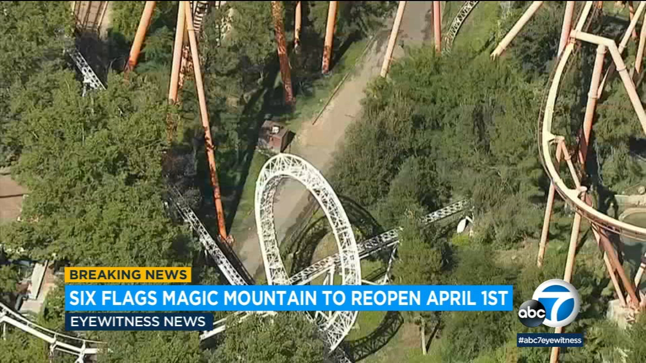 Thrill rides   six flags new england. Six Flags Magic Mountain Announces Plans To Reopen On April 1 Abc7 Los Angeles