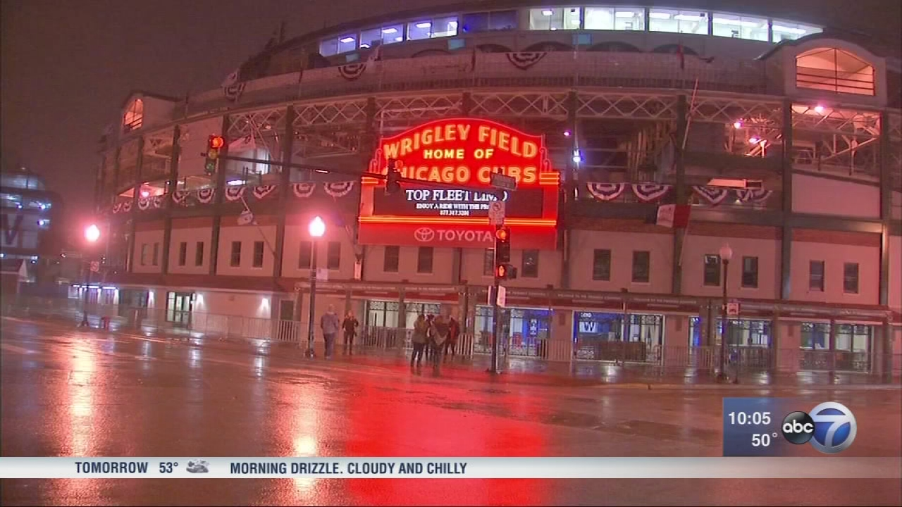 Chicago Cubs World Series Wrigleyville Security Street