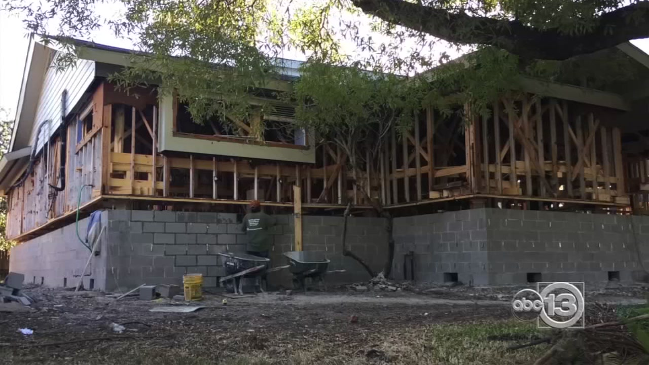 Meyerland residents lift spirits -- and homes -- after years of flooding - ABC13 Houston
