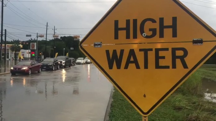 High water locations on Houston-area roads