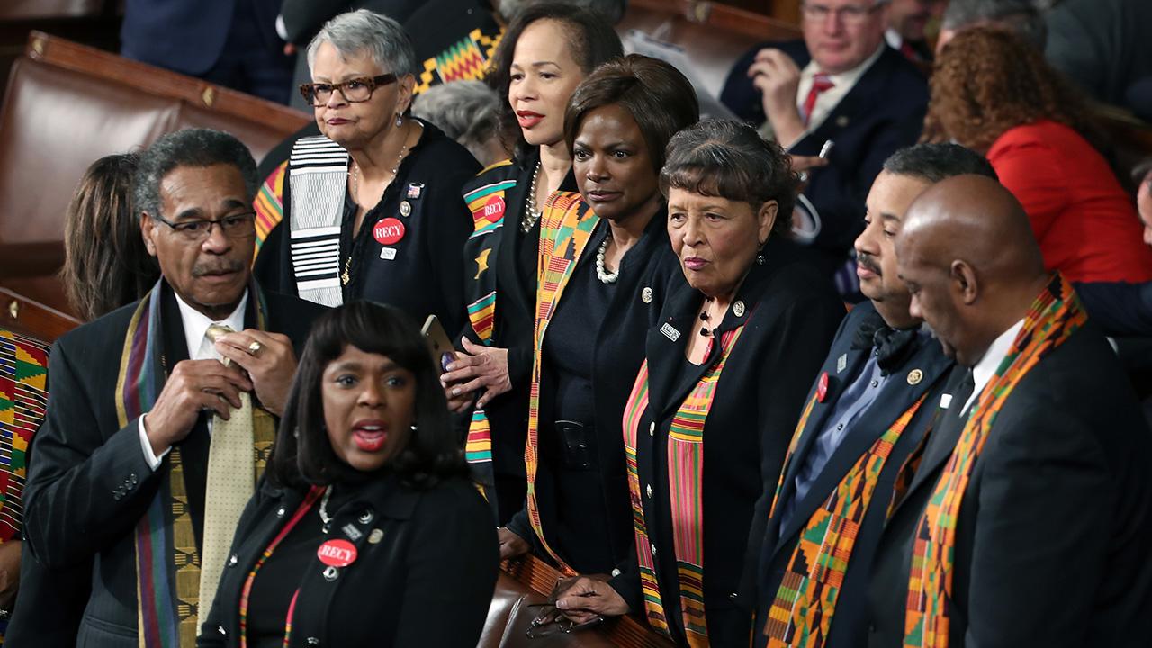Sotu Protest Congressional Black Caucus Dons Traditional
