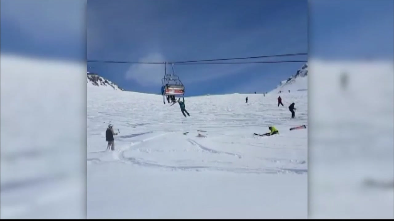 ski chair lift malfunction fold out lawn 10 injured when malfunctions in country of georgia