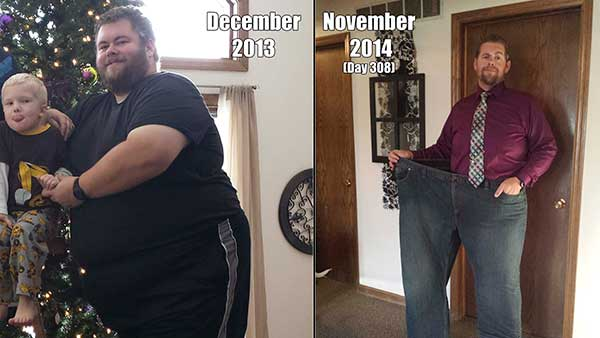 Man's successful weight loss journey started on New Year's ...