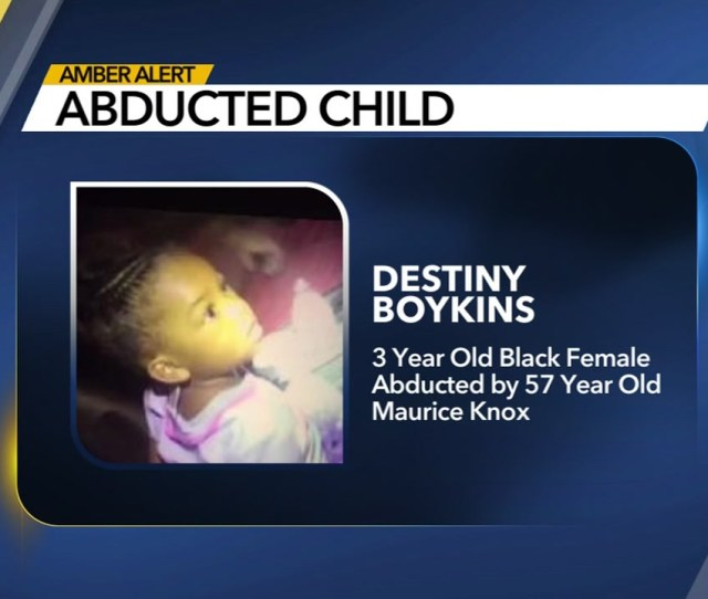 Amber Alert Gastonia Police Are Searching For  Year Old Destiny Boykins