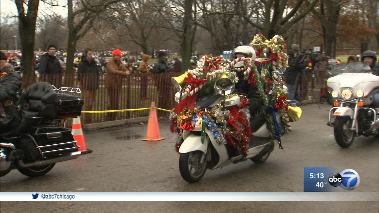 Annual Toys For Tots Motorcycle Parade Rides Through