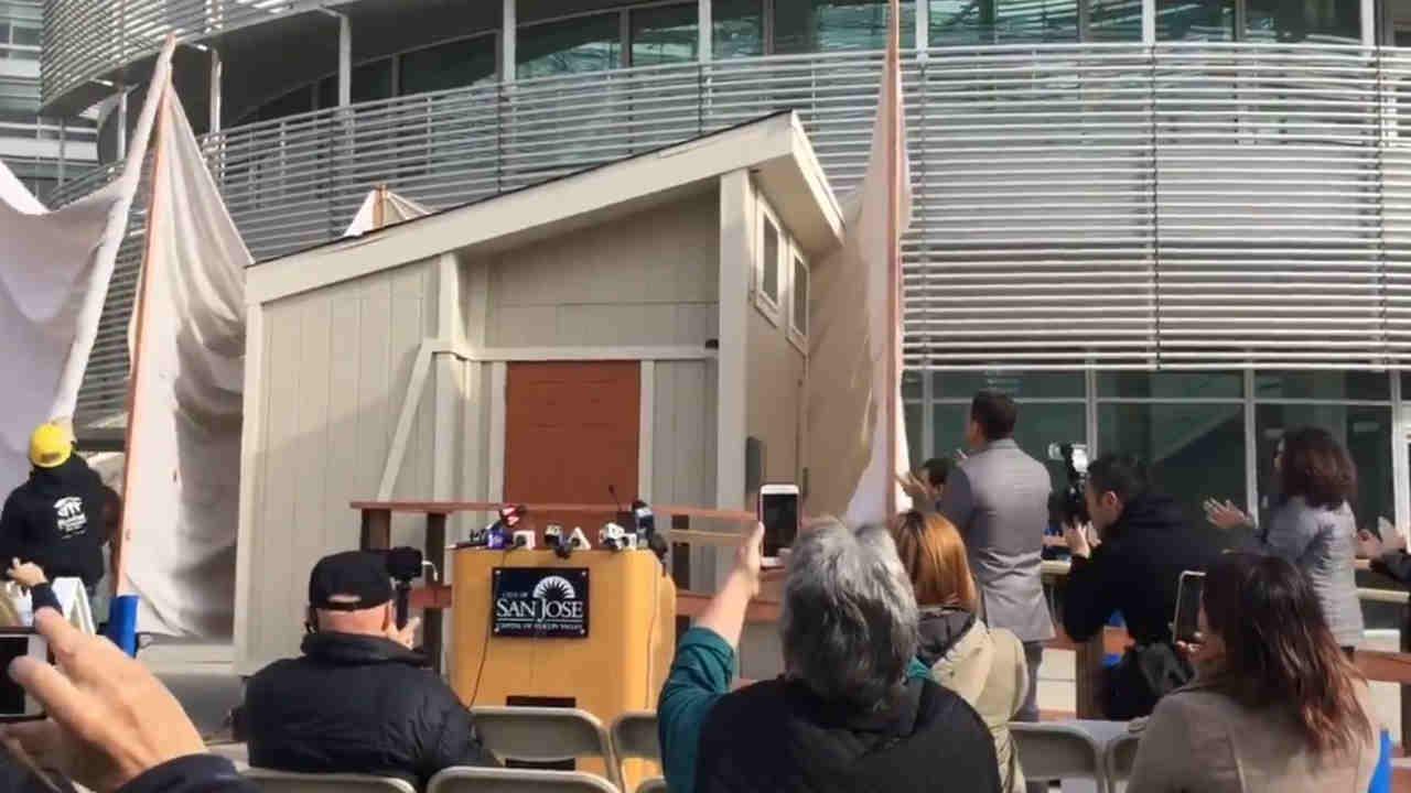 San Jose Unveils Tiny House Prototype As Vote On Pilot