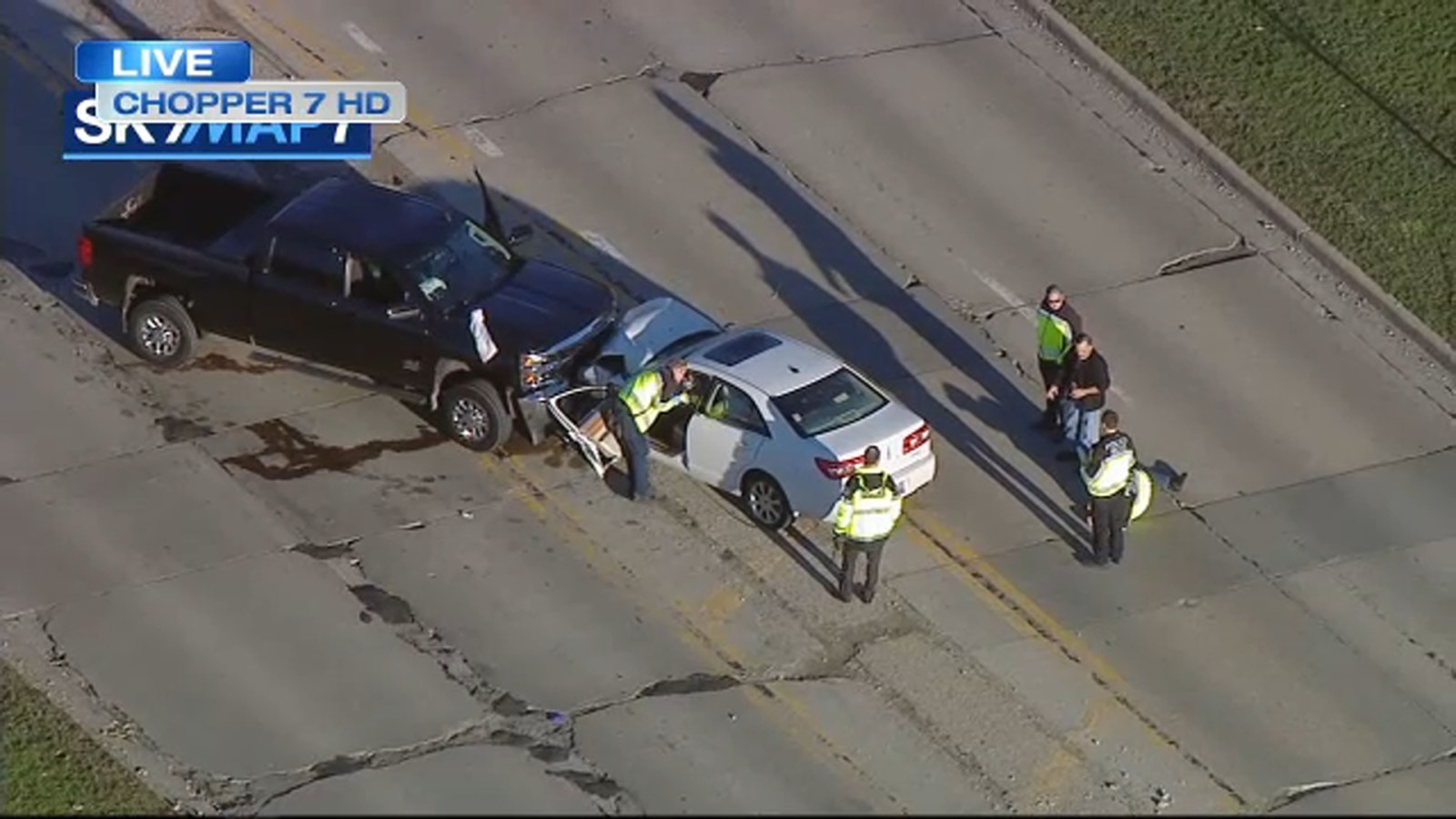 Truck Crash Blocks Illinois Route 53 In Northwest Suburb