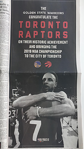 Image result for warriors ad toronto star