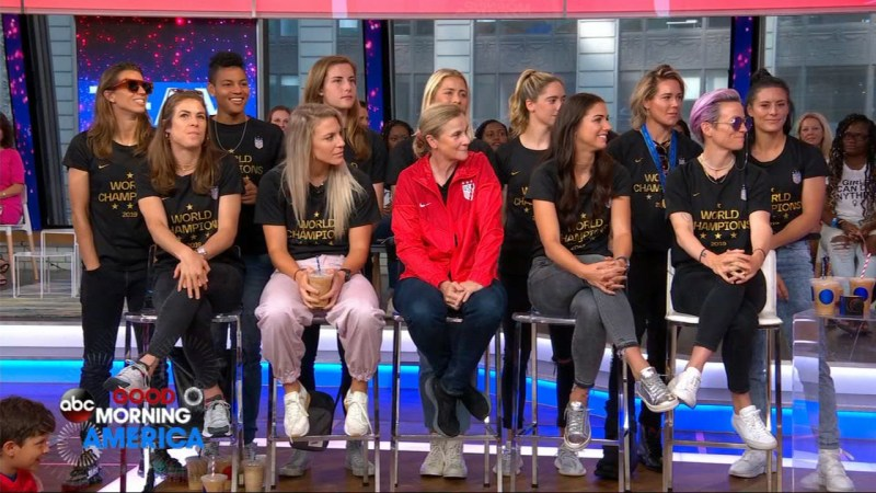 uswnt appears on gma