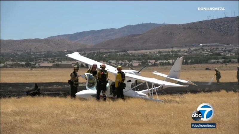 small plane crash lands