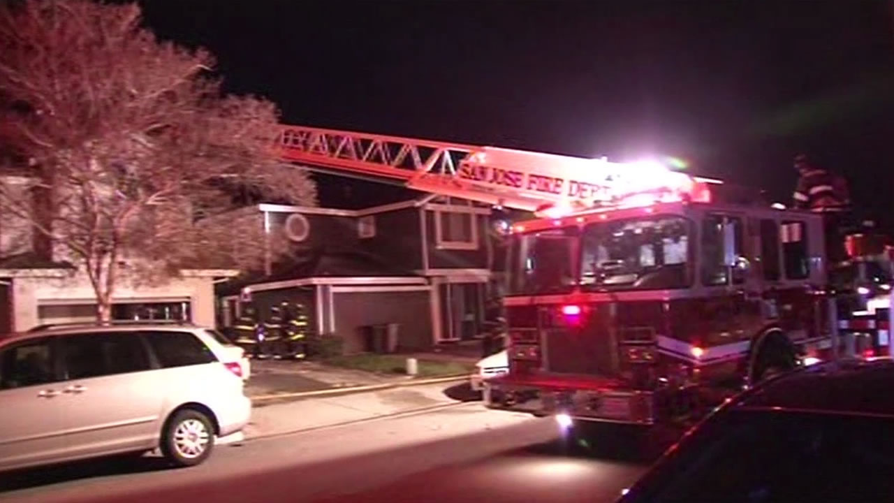 medium resolution of a two alarm house fire left two people without a home in san jose