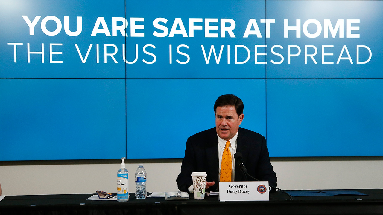 Coronavirus In Arizona Governor Doug Ducey Orders Bars