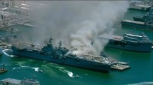 21 People Injured After Explosion and Fire on Board Naval Ship at San Diego Base