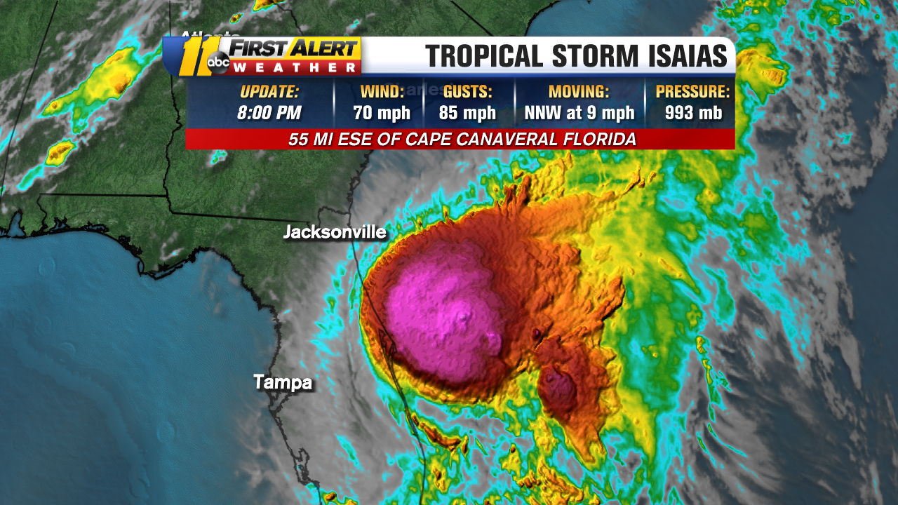 Tropical Storm Isaias Track Nc Isaias Lashes Florida S