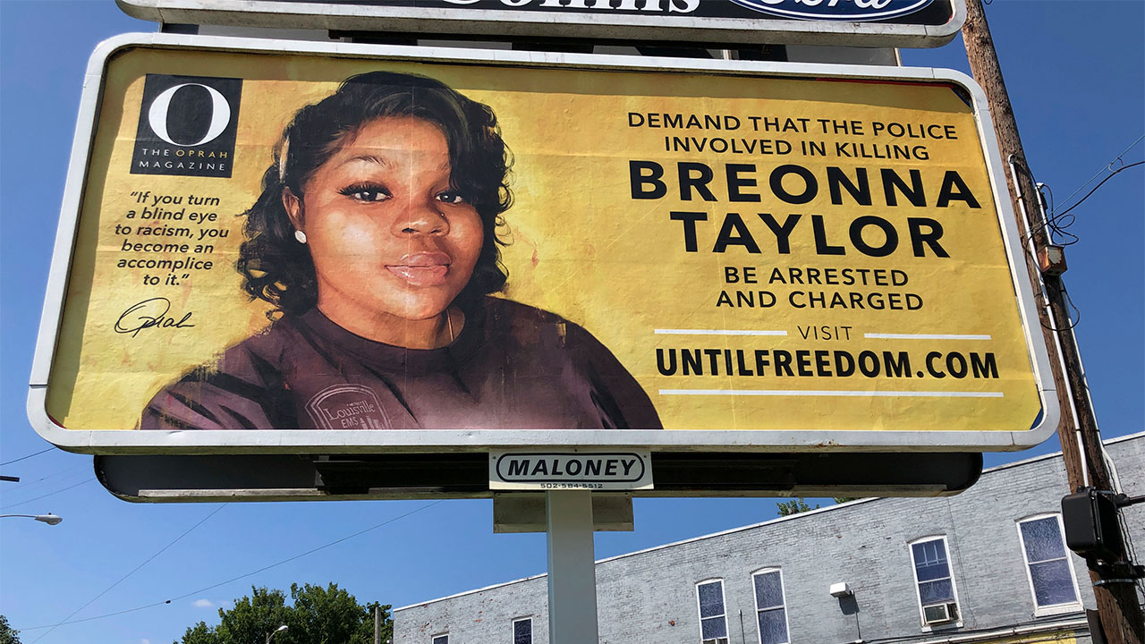 Breonna Taylor Billboards In Louisville Funded By Oprah