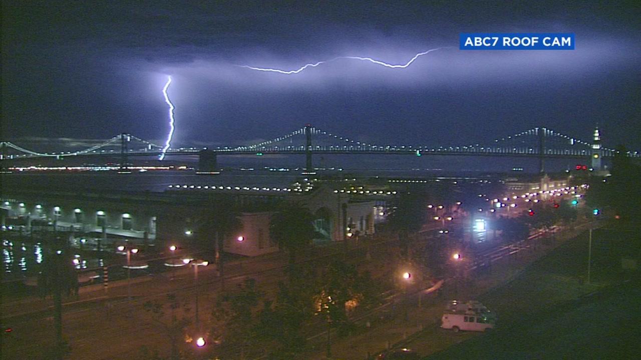 rare thunderstorms across sf bay area