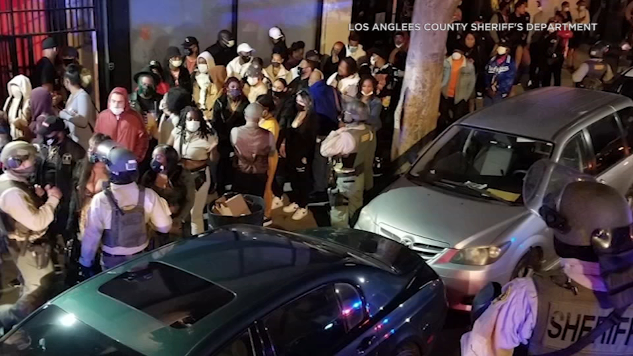 """182 arrested at """"superspreader"""" underground parties in Los Angeles amid Covid-19 surge"""