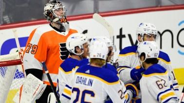 Without Sean Couturier, Philadelphia Flyers fall to Buffalo Sabres 6-1 - 6abc Philadelphia