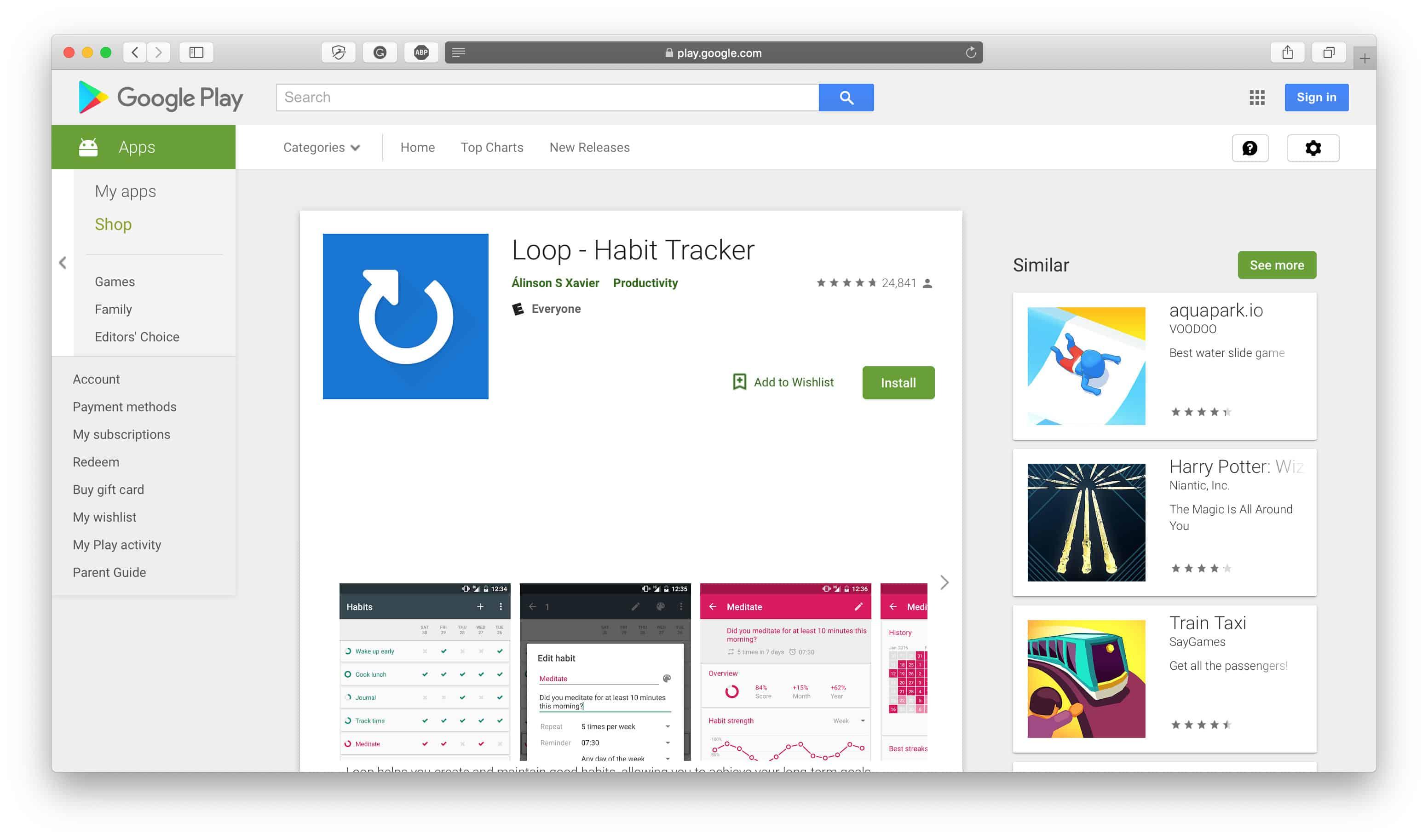 Loop Habit Tracker App