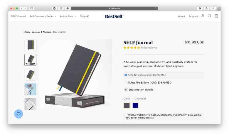 Best Self Co SELF Journal