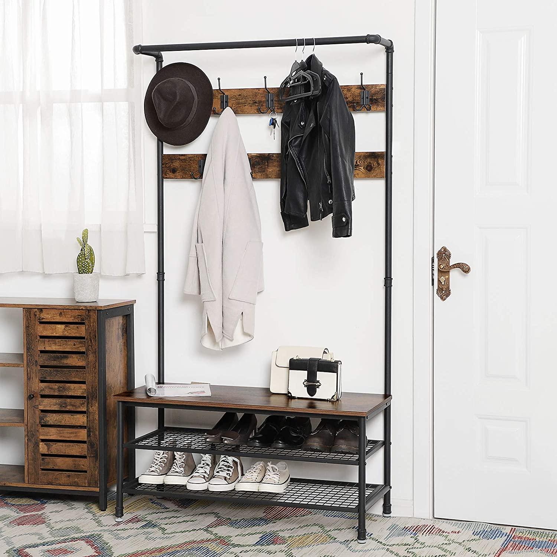 hsr47 coat rack with shoe storage bench futonota