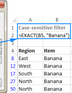 Case sensitive filter for text values also how to use advanced in excel criteria range examples with rh ablebits