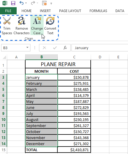 How To Change Caps To Lowercase In Word : change, lowercase, Change, Excel, UPPERCASE,, Lowercase,, Proper, Case,
