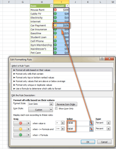 Assigning icons based on  cell   value also excel conditional formatting icon sets data bars and color scales rh ablebits